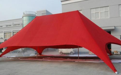 Nagy méretű dupla csillag sátor oldalfalakkal
